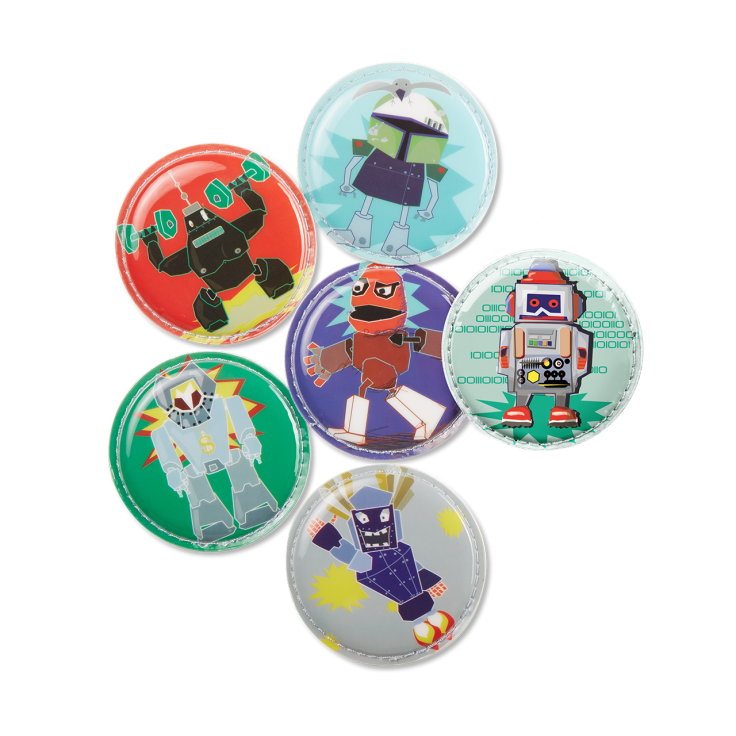 Image of Badges til Ergobag skoletaske - Kletties - Robot (ERG-KLE-002-028)