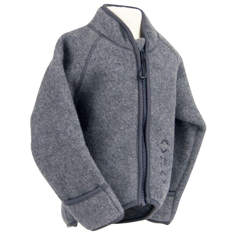 Image of Jakke i uld fleece fra Mikk-Line - m. tryllehånd - Grey melange (2003A-916-175-189)