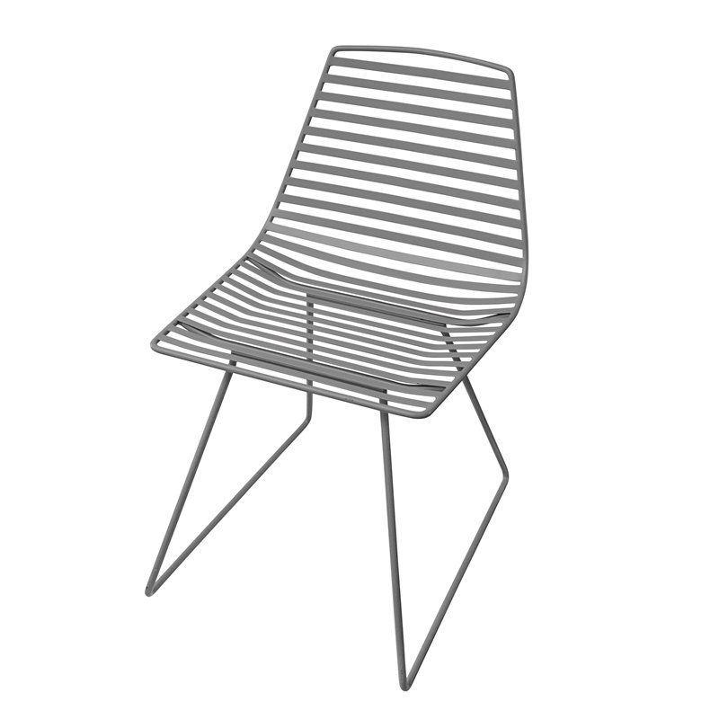 Stol, Me-Sit i metal fra Sebra - mørk grå (L)