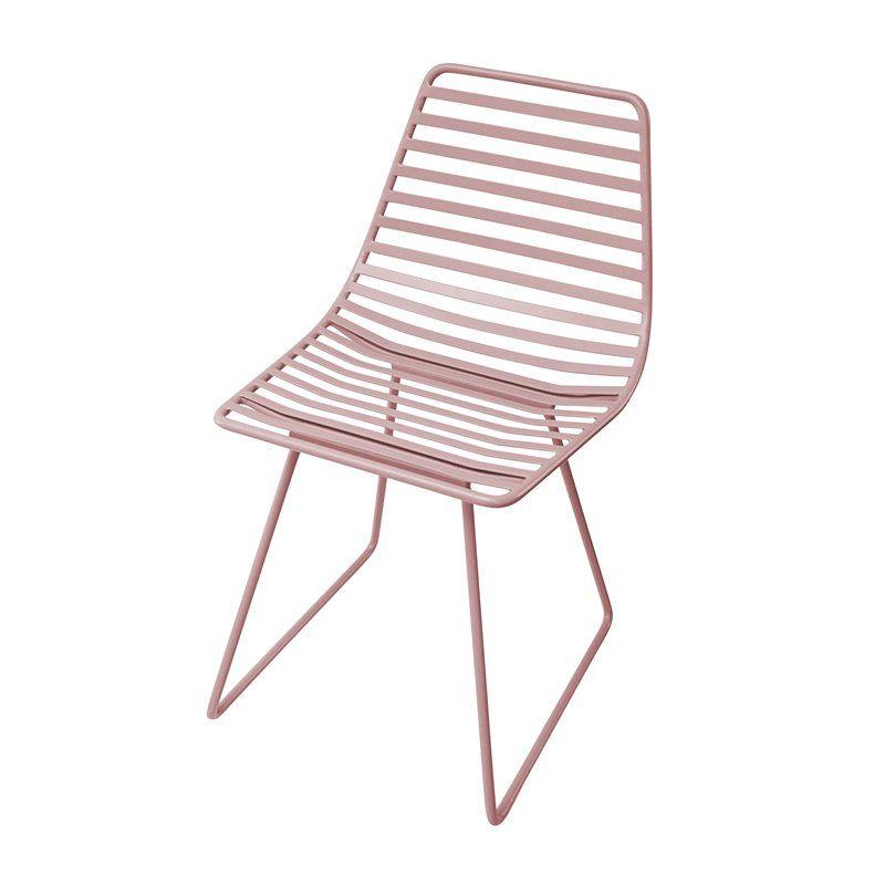 Stol, Me-Sit i metal fra Sebra - vintage rose (S)