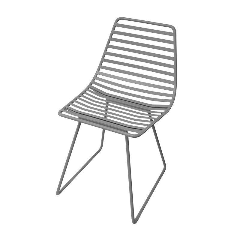 Stol, Me-Sit i metal fra Sebra - mørk grå (S)