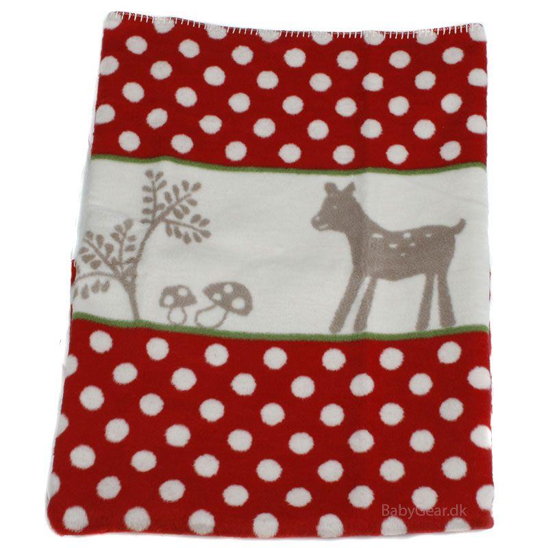 Billede af Tæppe fra Fussenegger (100% økologisk) - Red Dot Bambi (75x100)