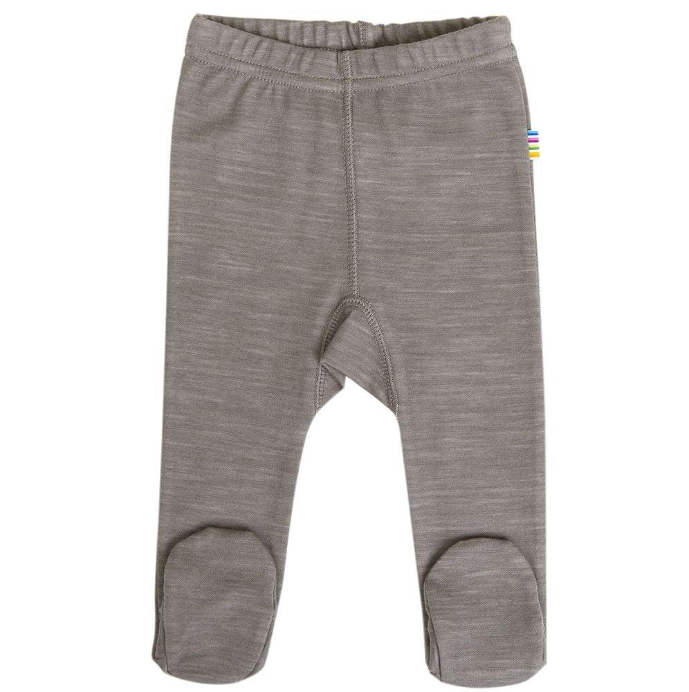 Image of   Baby leggings i uld-bomuld fra Joha - Stone Melange