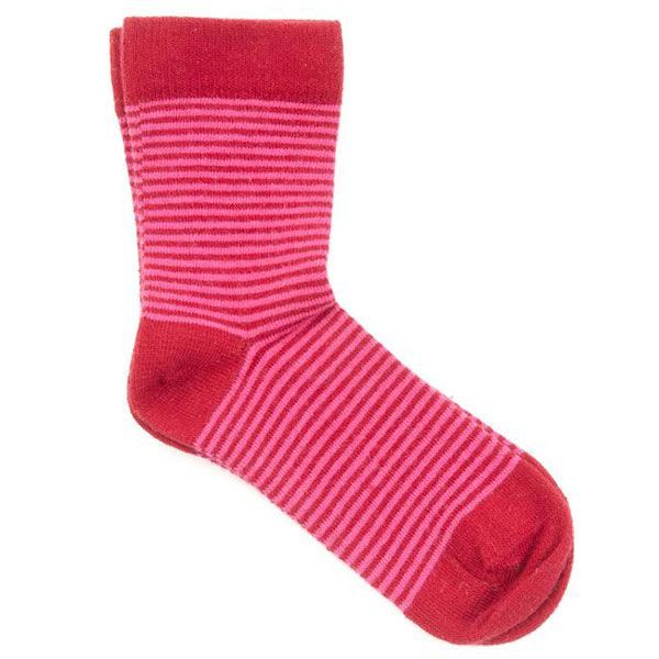 Image of   Smallstuff strømper - Striber - Rød/Pink