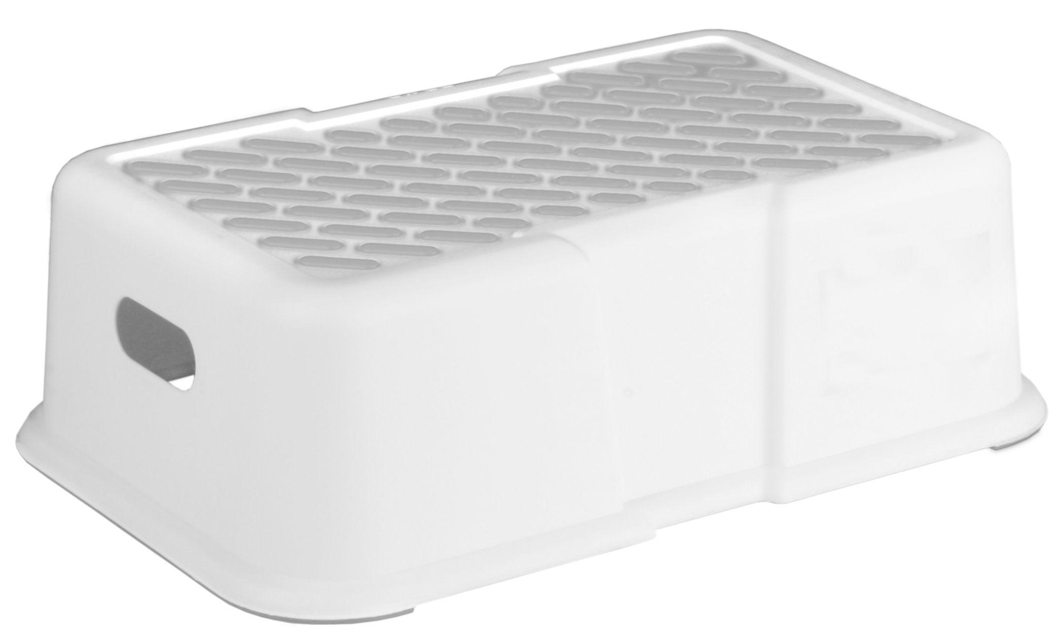 Skammel m. anti-skrid fra Plast Team - Hvid