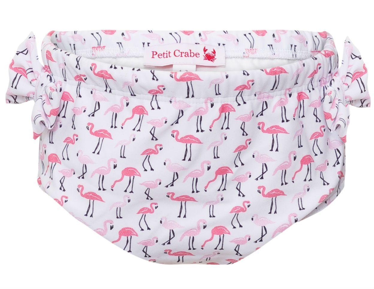 Billede af Ble badebukser fra Petit Crabe - UV50 - Flæse og sløjfe - Flamingo