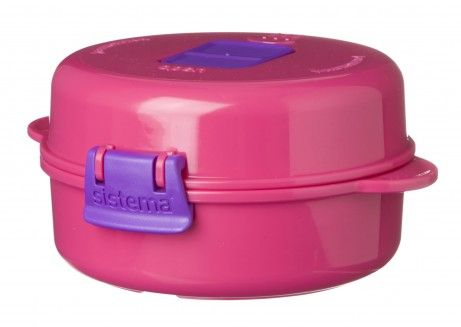 Sistema Microwave easy eggs fra sistema - pink på babygear.dk