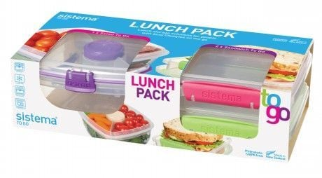 Salad Lunch pack fra Sistema (3 stk)