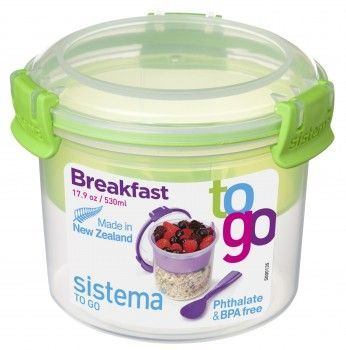 Image of Breakfast Box fra Sistema ToGo - Lime accent (21355_Lime)