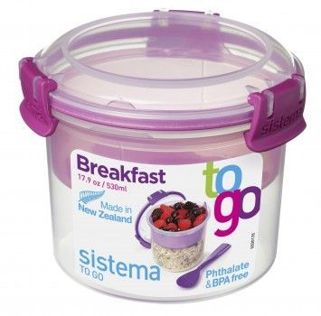 Image of   Breakfast Box fra Sistema ToGo - Pink accent