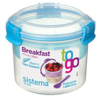 Image of Breakfast Box fra Sistema ToGo - Aqua accent (21355_Aqua)