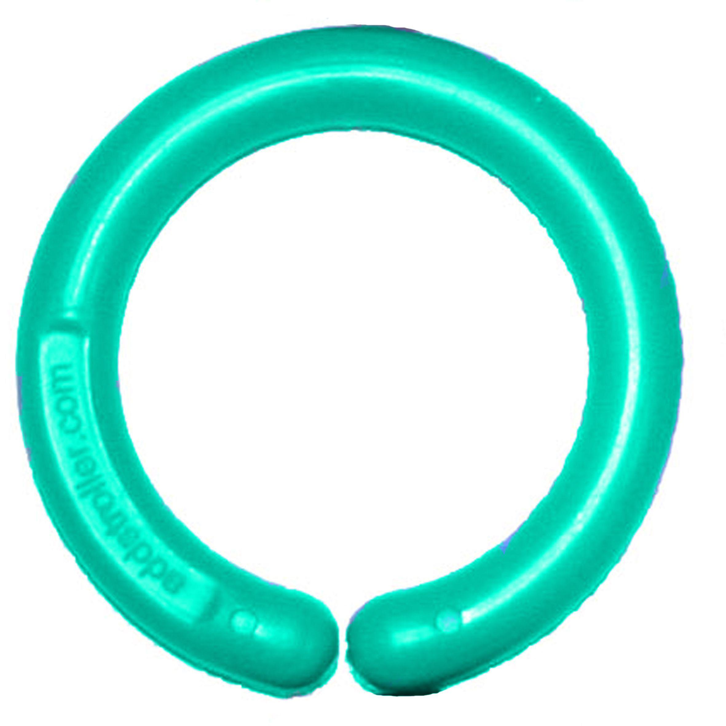 Image of Ophængningsring til klæde og legetøj - Aqua (1 stk) (106664)