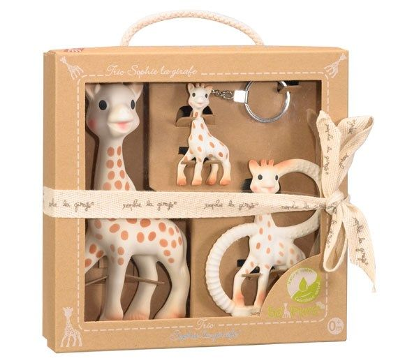 Vulli – So pure trio fra vulli - sophie giraf, bidering og nøglering på babygear.dk