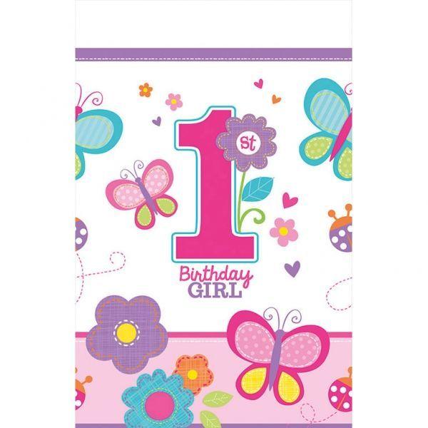 Plastdug - 1 års fødselsdag - 1st Birthday Girl