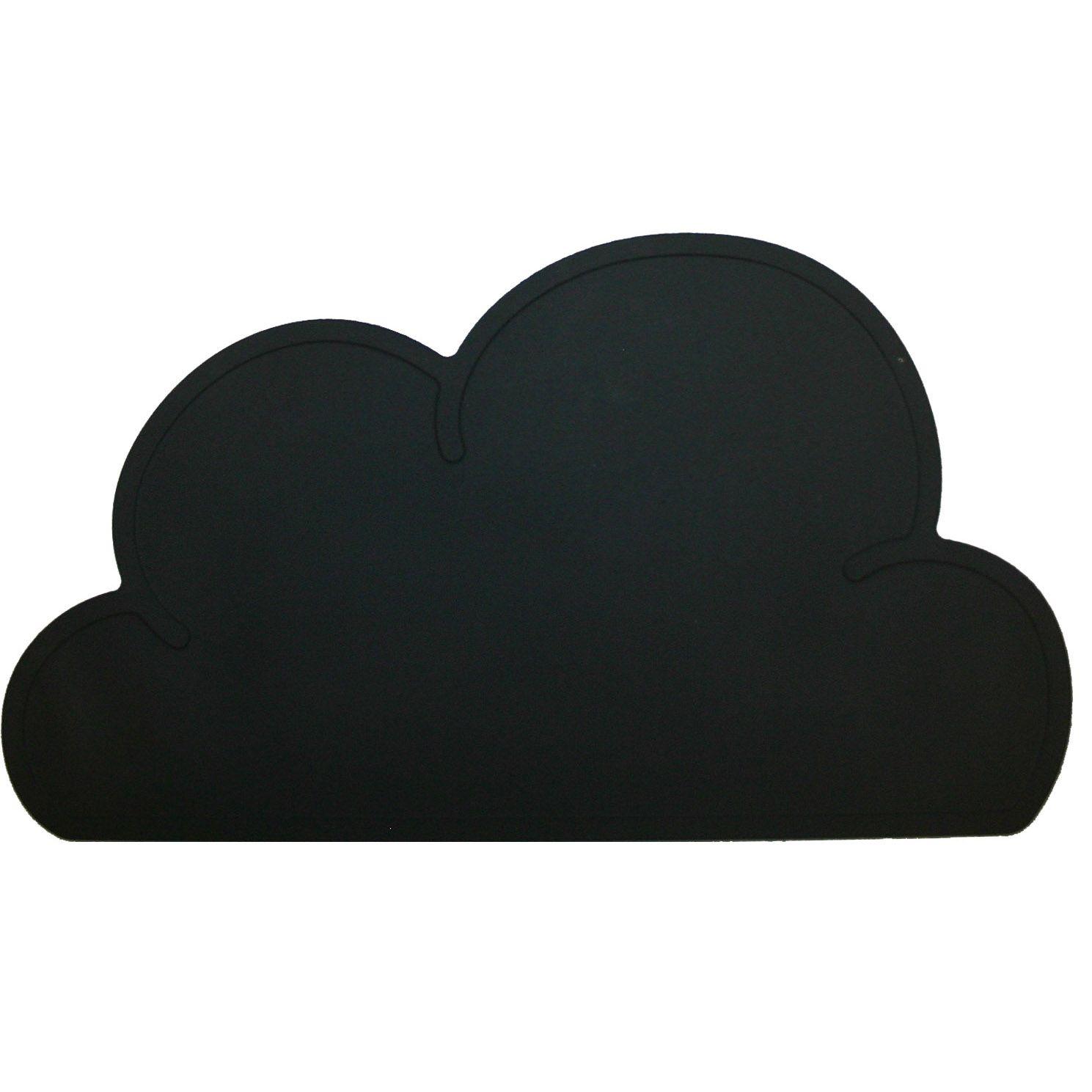 Kg design Dækkeserviet fra kg design - sky - sort på babygear.dk