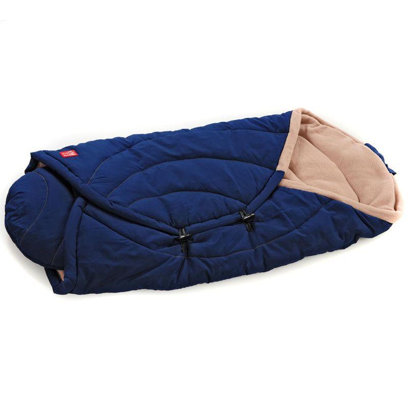 Baby fleece wrap fra Kaiser - Coo Coon - Mørkeblå