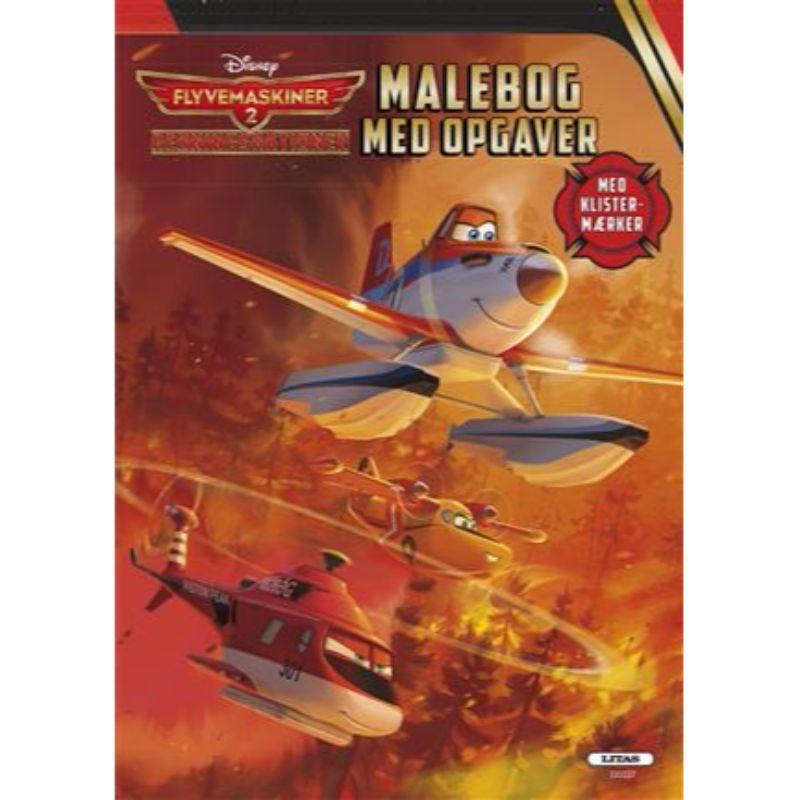 Image of   Malebog m. opgaver og klistermærker - Flyvemaskiner - Redningsaktionen