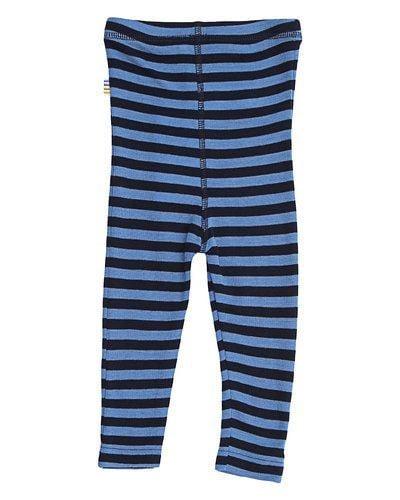 Uld leggings fra Joha - Block Stripe - Marine/Blå