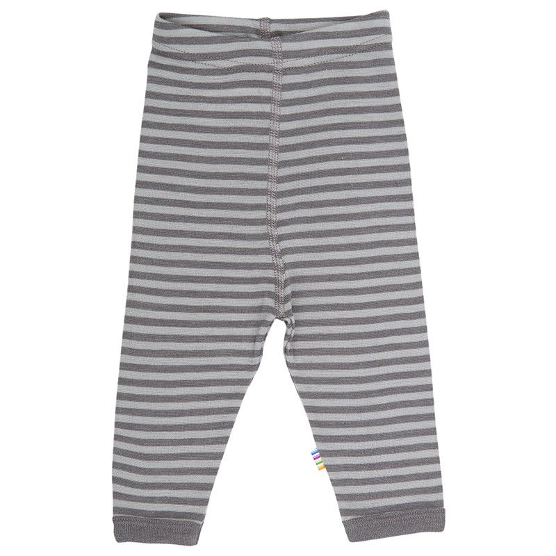 Image of   Leggings fra Joha i uld / silke - Dusty brown stripe