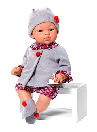 Image of Babydukke fra Así - Blød krop - Koke dreng m. grå jakke (36 cm) (24403551)