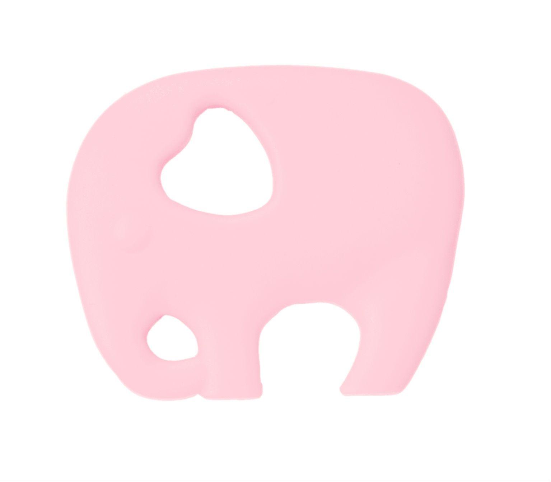 Image of Bidering fra AddBaby - Silikone - Elefant - Rosa (106632)