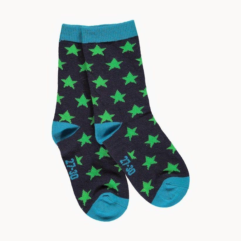 Image of   Strømper fra Mala - Navy m. grønne stjerner