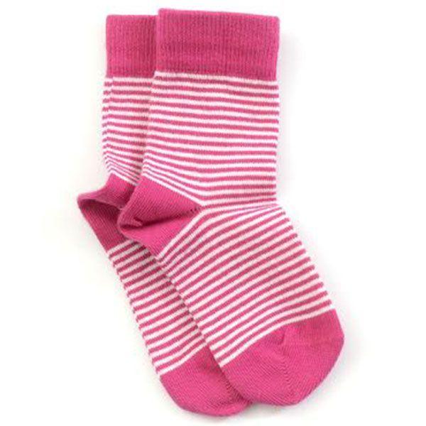 Image of   Smallstuff strømper - Striber - Hvid/Pink