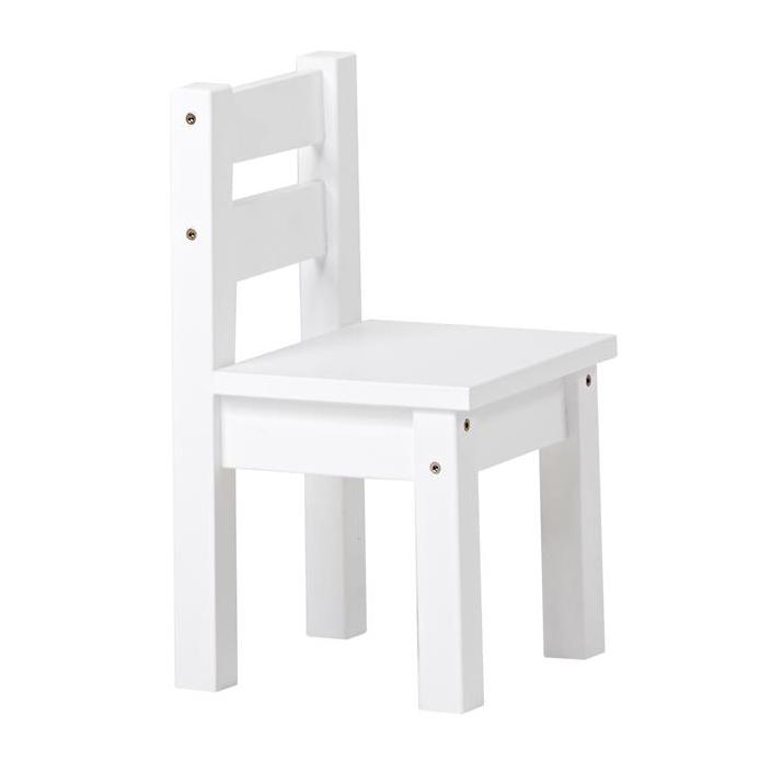 Børnestol fra hoppekids i hvid fra Hoppekids fra babygear.dk