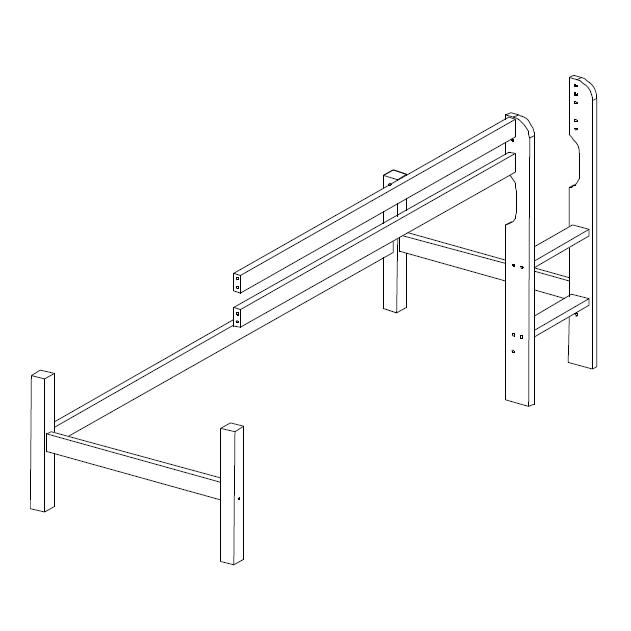 Halvhøj System Basic Sengemodul fra Hoppekids