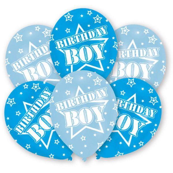 Balloner - latex - birthday boy (6 stk) fra Amscan fra babygear.dk