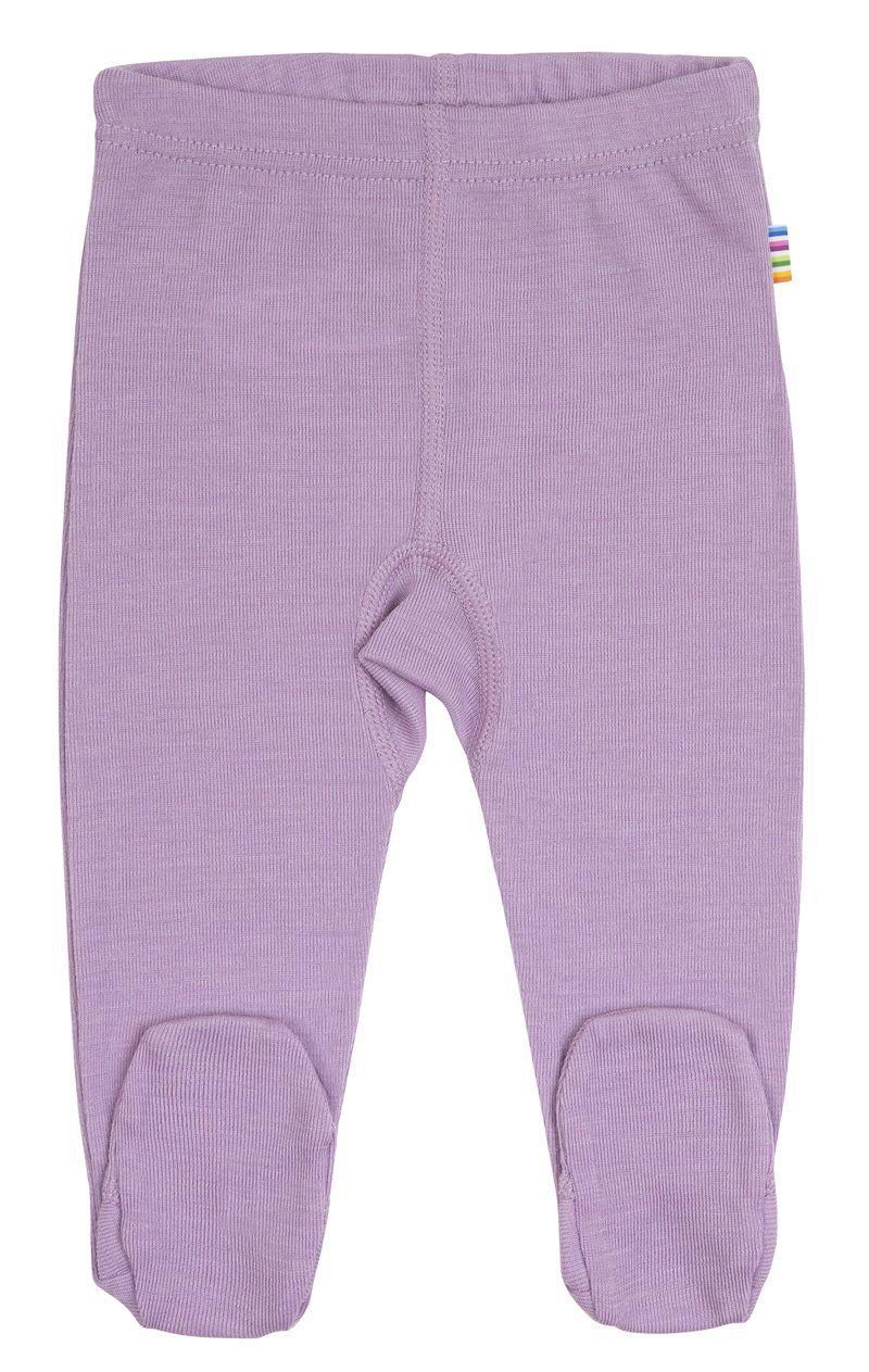 Leggings m. fod fra Joha i uld/silke - Lavender mist