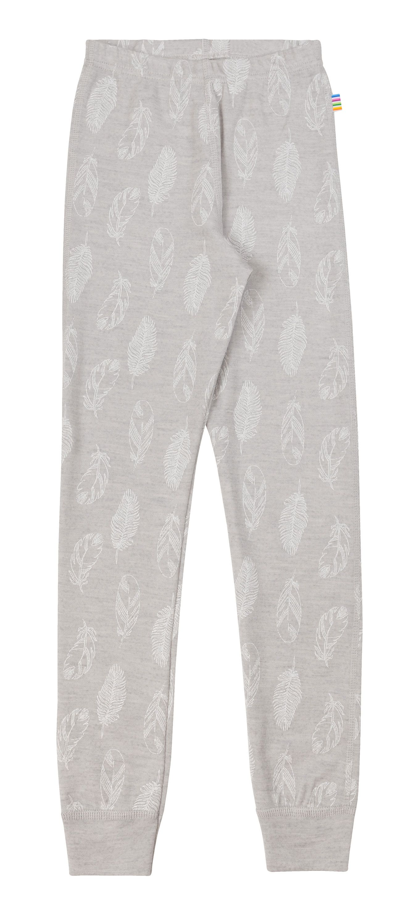 Image of   Leggings fra Joha i uld-silke m. Grey Feathers