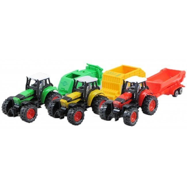 Image of Traktor fra Magni m. pull-back og lad - Stor (1 stk) (2620)