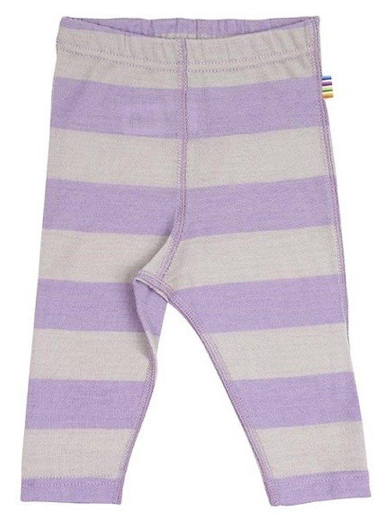 Image of   Leggings fra Joha i uld m. Grå/rosa striber