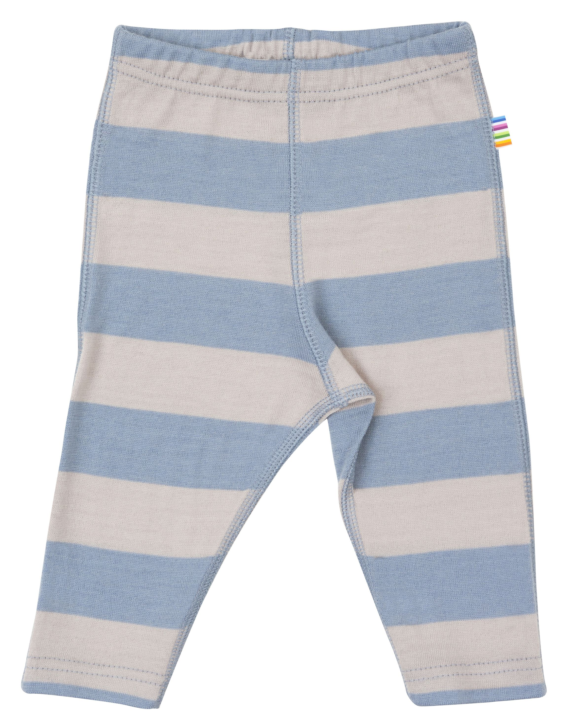 Image of   Leggings fra Joha i uld m. Grå/lyseblå striber