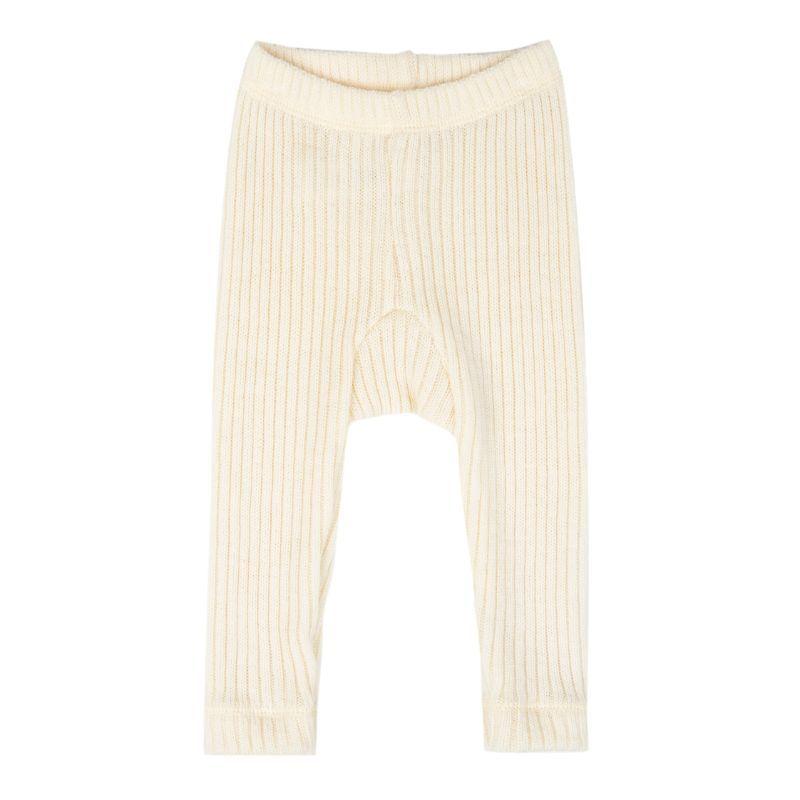 Image of Bukser i Soft Wool rib fra Joha - Natur (26590-917-69)