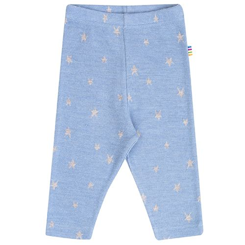 Image of   Leggings fra Joha - Uld - Stars - Dusty Blue