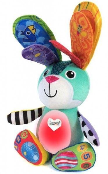 Image of   Aktivitets kanin m. lys og tale - Lamaze Sonny the Glowing Bunny