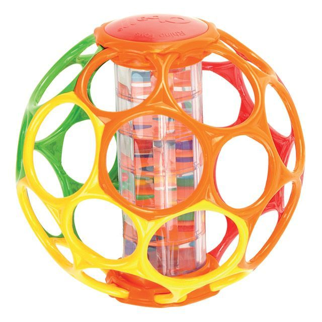 OBall motorikbold m. rangle 15 cm -  Oball Rainstick