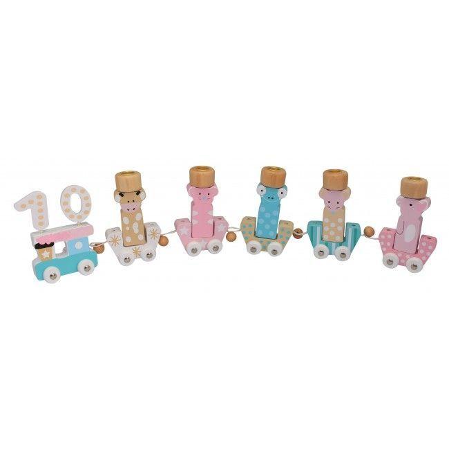 Billede af Fødselsdagstog fra Magni - Dyr - Pastel Pink og blå (1-10 år)