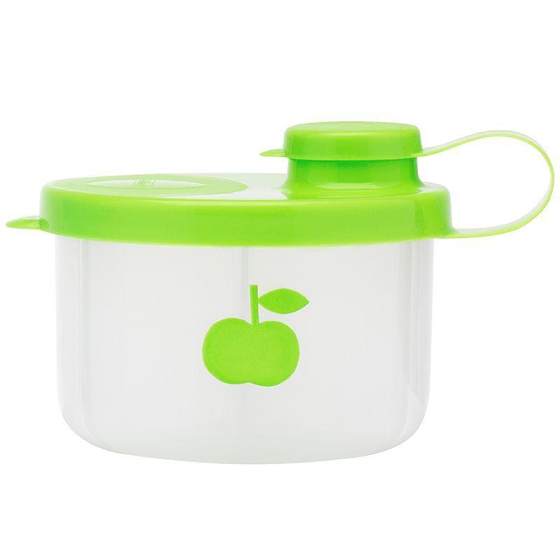 Bambino – Mælkepulver beholder fra bambino - lime fra babygear.dk