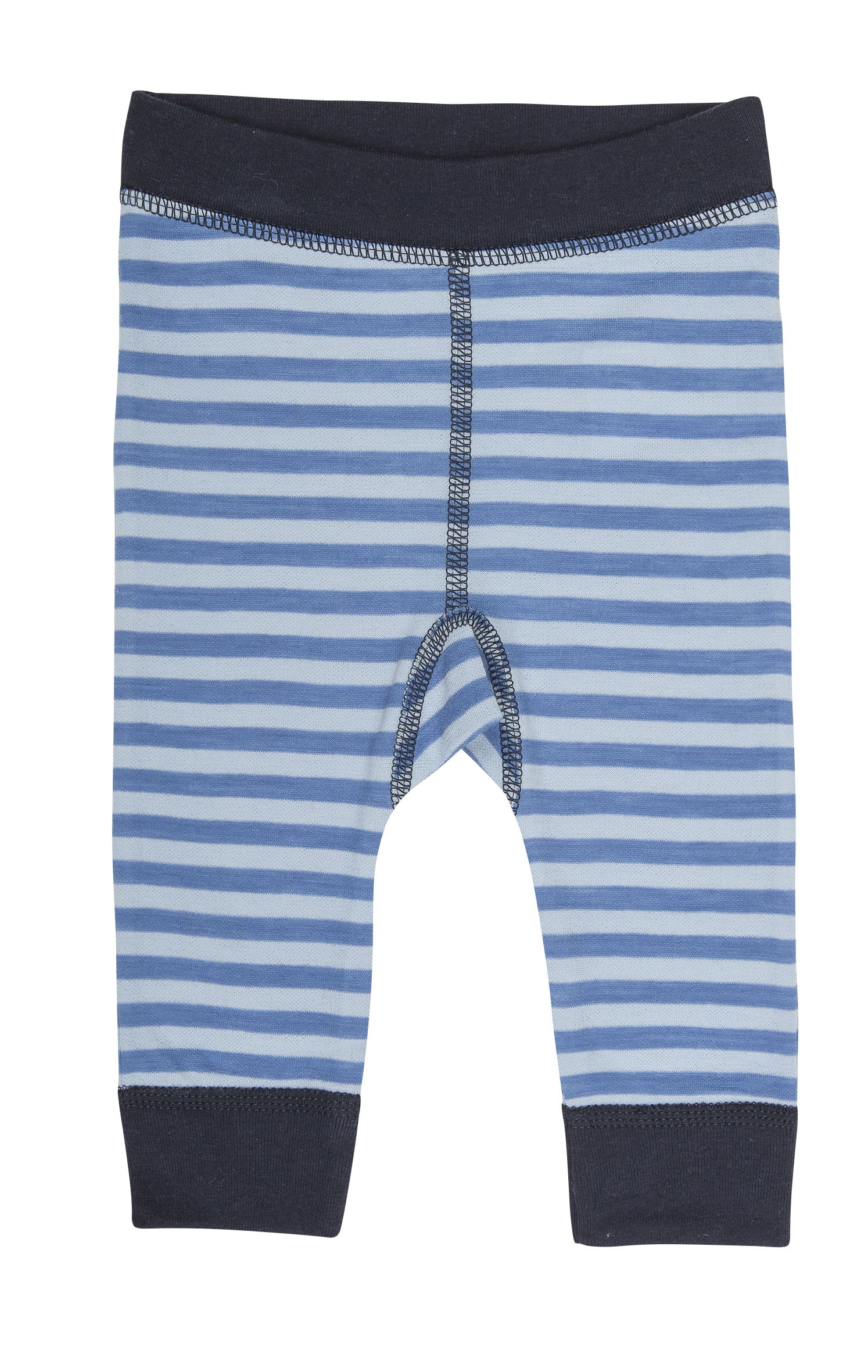 Image of Leggings fra Joha i uld / bomuld - Wolly - Blå/lyseblå (29464-43-6531)