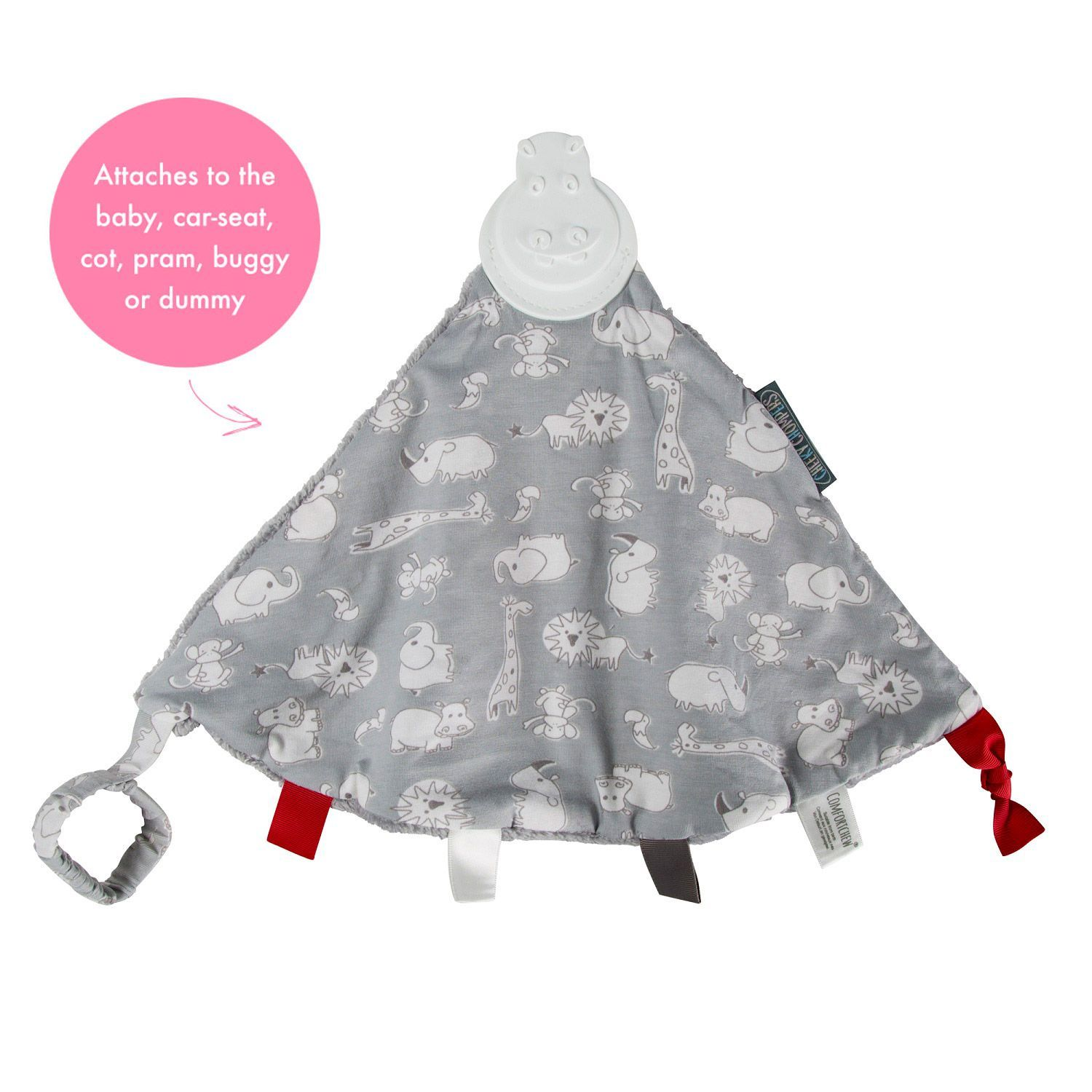 Nusseklud fra cheeky chompers - comforterchew 4i1 - chewy & co fra Cheeky chombers fra babygear.dk