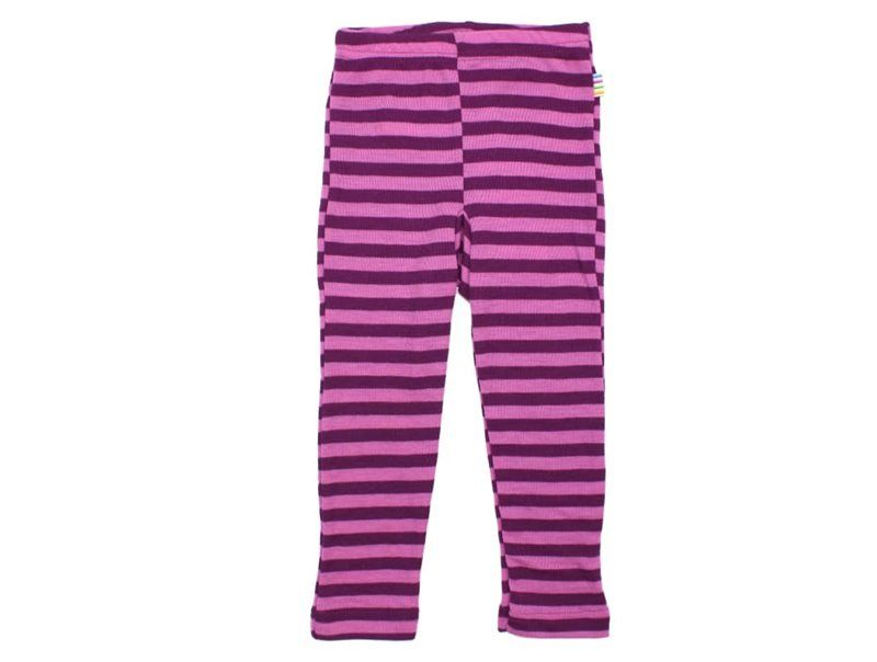 Image of Leggings fra Joha i uld m. Violet striber (29979-355-6519)
