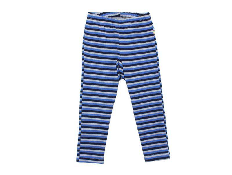 Image of Leggings fra Joha i uld/bomuld m. Blå striber (29979-42-6348)
