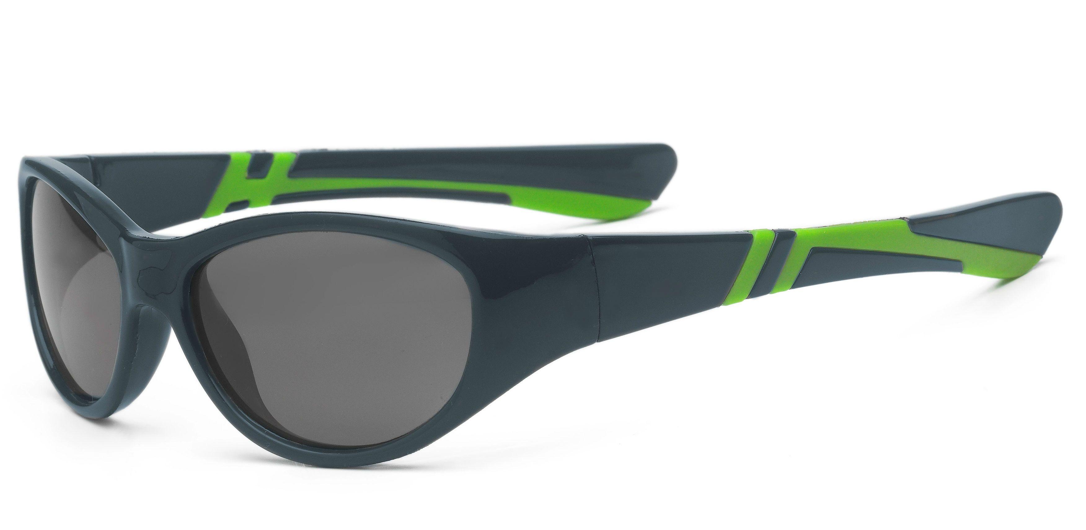 Solbriller fra real shades - discover - graphite fra Real kids shades fra babygear.dk