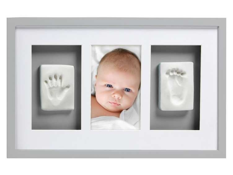 Image of Billedramme fra Pearhead - Babyprints Deluxe Wall Frame - Grå (63012)