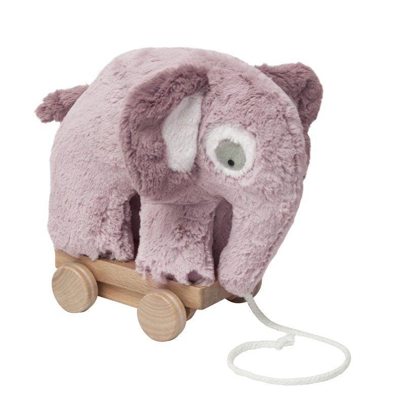 Image of   Plys trækdyr fra Sebra - elefant vintage rose