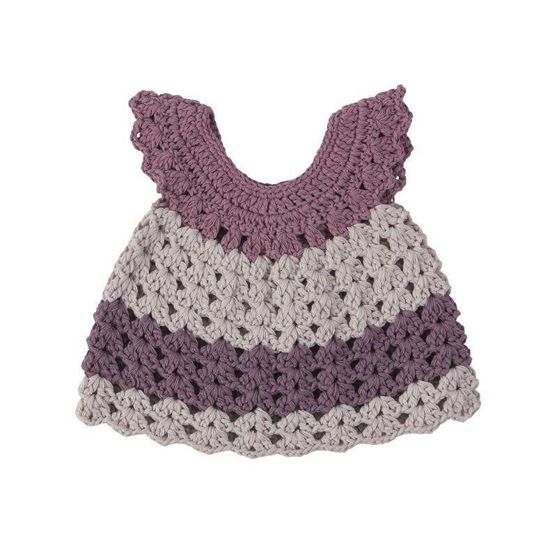 Dukketøj fra Sebra - kjole pastel lilla