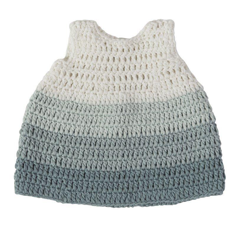 Dukketøj fra Sebra - kjole pastel blå